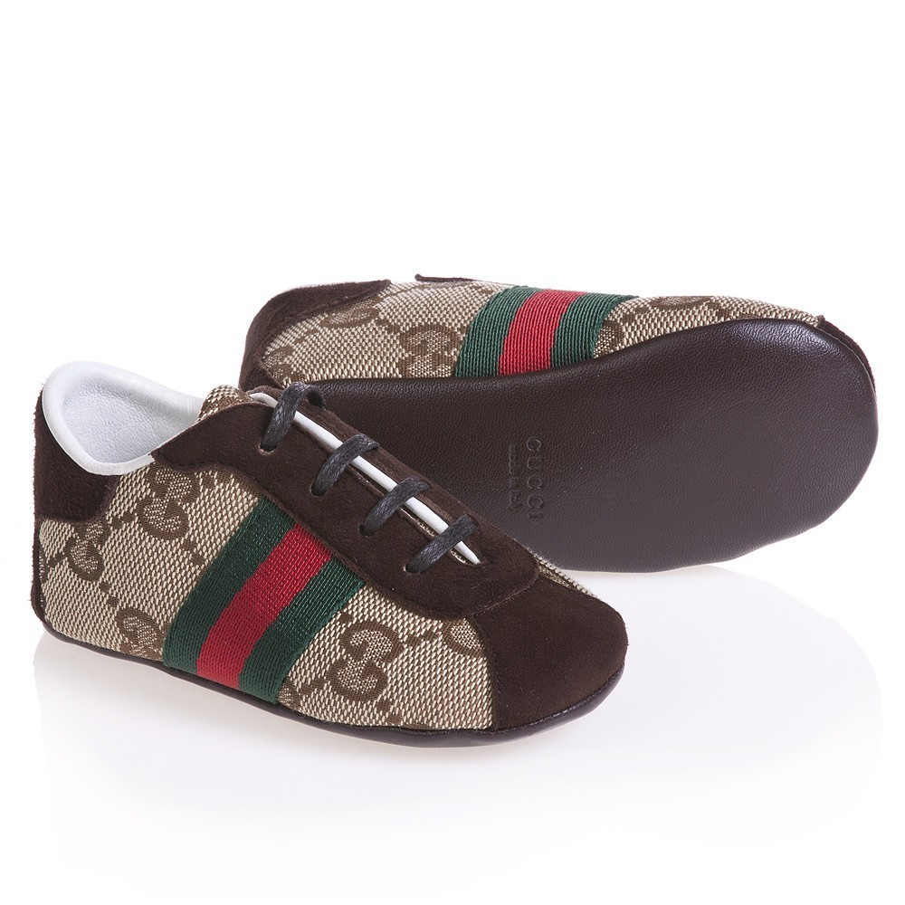 Детские ботинки с нескользящей подошвой Gucci GUCCI 2012 Для молодых мужчин 100 хлопковая ткань Резинка