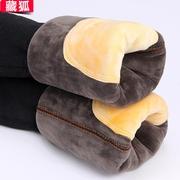 冬季保暖裤男士加厚加绒棉裤三层特厚防风线裤打底棉毛裤