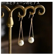 5649橡皮擦饰品日韩系超精致手作优雅棉纹珍珠耳环耳坠