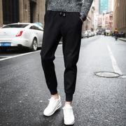 裤子男士潮流卫裤秋冬季运动裤哈伦裤外穿裤冬款加绒长裤
