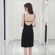 2018夏季性感大露背中长款包臀裙吊带连衣裙显瘦打底裙女