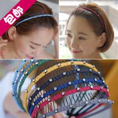 韩国进口发饰防滑简约淑女百搭带齿梳子发卡头箍洗脸发箍成人