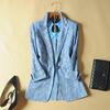 欧洲站秋装蕾丝长袖小西装女外套一粒扣短款西服女上衣