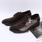 真皮春夏季流行男鞋系带英伦圆头男士皮鞋鞋婚鞋潮流