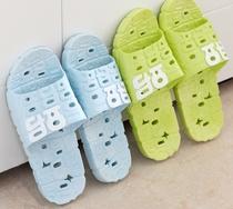 夏季情侣厚底女鞋浴室洗澡塑料防滑家居家室内漏水缕空男女凉拖鞋