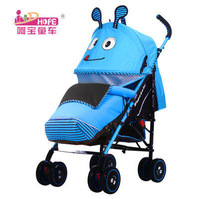 Oh treasure stroller can be folded flat to sleep super lightweight umbrella stroller can take simple baby stroller buggy