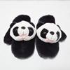 加厚手套立体熊猫头卡通手套毛绒黑白儿童保暖可爱萌情侣礼物