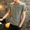 法派鹰2019夏季男士短袖t恤男装上衣纯色青少年圆领半袖白体恤潮