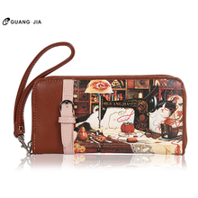 GUANGJIA new long wallet wallet PU wallet zipper hand bag cross section ms young female wallet