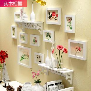 欧锋欧式实木照片墙装饰画创意组合卧室客厅挂墙相框地中海相片墙