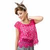 秋装钩花镂空罩衫蝙蝠袖针织衫女套头大圆领蕾丝衫上衣25