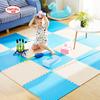 明德泡沫地垫拼图爬行垫儿童卧室树叶纹拼接防滑垫大号6060加厚