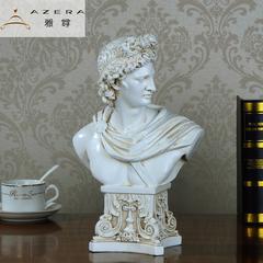 客厅欧式饰品摆件大卫石膏头像人物雕塑像艺术装饰品家居树脂玄关