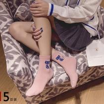 袜子女 中筒袜秋冬季纯棉袜韩国学生袜子日系女短袜船袜