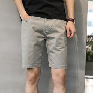 夏季短裤男士裤宽松五分中裤男夏裤5分直筒复古男潮马裤