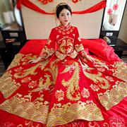 新娘中式婚纱秀禾服复古旗袍礼服龙凤褂秀和服结婚孕妇敬酒服