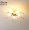 北欧卧室灯吸顶灯具客厅现代简约餐厅书房灯创意个性五角星灯具