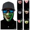 小丑骷髅户外骑行头套男女款原创面罩高弹防晒速干透气魔术头巾