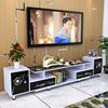 钢化玻璃电视柜茶几组合客厅烤漆伸缩电视机柜简约现代小户型地柜