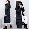 冬季棉袄2018棉衣女中长款过膝棉服连帽加厚大码女士外套
