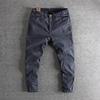 立体裁剪质感梭织棉布欧美复古做旧男士九分裤
