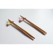 进口Chabatree天然柚木制无漆日式筷箸原木尖头防滑筷子多款