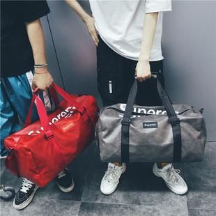 短途旅行包男手提包女出差大容量旅游包简约行李包袋防水健身包潮