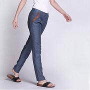 夏装苎麻女裤子 小脚裤裤显瘦小直筒裤铅笔裤 亚麻长裤