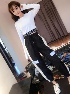 时尚酷女装秋款套装女2018秋装帅气气质原宿风嘻哈少女两件套
