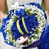蓝玫瑰蓝色妖姬生日礼盒深圳福田南山鲜花同城速递广州花店送花