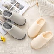 棉拖鞋毛绒秋季冬季家居男女居家用室内加绒防滑保暖厚底情侣棉鞋