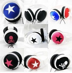 大星星骷髅耳機時尚頭戴式耳機P3電腦手機通用耳機耳麥