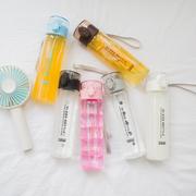 创意潮流女生学生水杯子玻璃杯便携防漏带盖韩国清新可爱水瓶