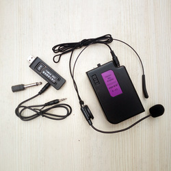 音响万能无线腰挂头戴式耳麦话筒音箱通用USB接收器K歌神器领夹胸