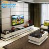 现代简约电视柜茶几组合 时尚客厅家具白色烤漆钢化玻璃地柜机柜