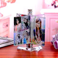 创意生日礼物男生女生浪漫实用水晶魔方风车diy照片定制相框摆台