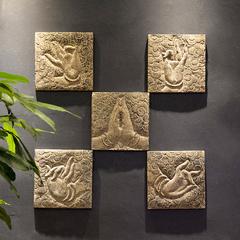 新中式复古禅意过道装饰品客厅玄关壁饰古典创意墙壁浮雕佛手挂件
