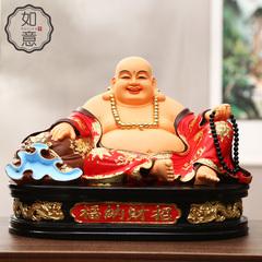慈慧 寺庙树脂佛像 开光弥勒佛 客厅大肚弥勒佛摆件 宽体彩绘笑佛