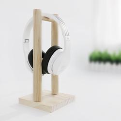 一彩虹 木质实木耳机架游戏耳麦挂架木制头戴式架子支架